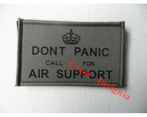 1782o 'Dont Panic, call for air support' patch, olive.