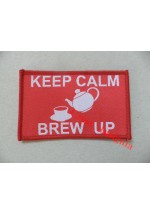 1783c 'Keep Calm, Brew-up' patch, colour.