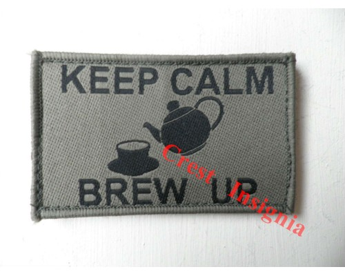 1783o 'Keep Calm, Brew-Up'  patch, olive.