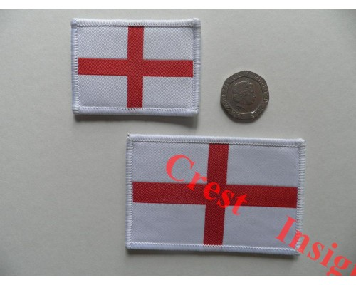 1812l Flag patch, St Georges, 50 x 80mm.