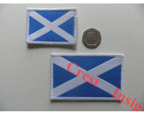 1814l St. Andrews flag patch. 50 x 80mm.