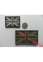 1821l Union Jack flag patch olive/MTP, 50 x 80mm.