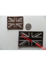 1822s Union Jack flag patch, Coyote Tan. 40 x 55mm.