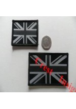 1825l Mono  [Police] Union Jack flag patch. 50 x 80mm.