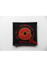 1830b '100 Years' Poppy patch, Black.