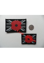 1832l Poppy/Union Jack flag patch Mono [police]. 50 x 80mm.