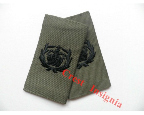 1006ol, UK Forces CQMS/QMSI Rank Sliders. Black/Olive.
