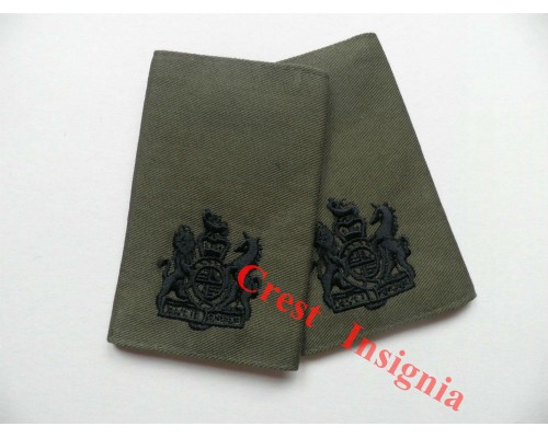 1007ol, UK Forces RSM/WO1 Rank Sliders. Black/Olive.
