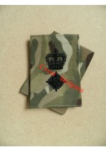 1012 UK Forces, Lt/Colonel Rank Sliders. Black / Olive.