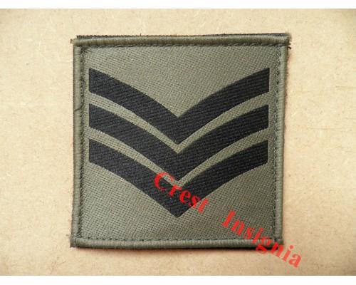 1073 Ubacs/MTP Velcro Rank Patch. Sergeant.
