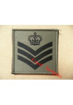 1074 Ubacs/MTP Velcro Rank Patch. Staff/Colour Sergeant